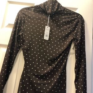 Gorgeous NWT AFRM polka dot sheer turtleneck.